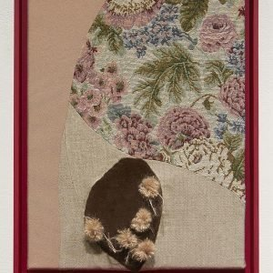 Reclaimed textiles combined into an artwork depicting the personality of a particular person from memory.